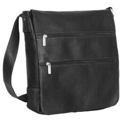 David King Leather 167 Laptop Messenger Bag Black
