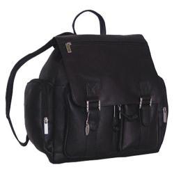 David King Leather 327 Laptop Backpack Black