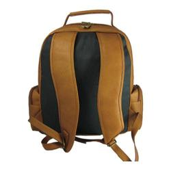David King Leather 349 Oversize Laptop Backpack Tan