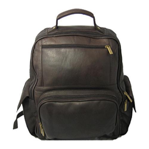 8e707c00557b David King Leather 352 Large Computer Backpack Cafe