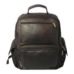 David King Leather 352 Large Computer Backpack Cafe