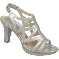 Women's Naturalizer Danya Silver Crosshatch Patent PU