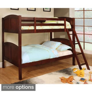 Furniture of America Leticia Twin over Twin Bunk Bed