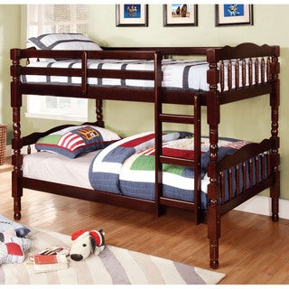 Furniture of America Loretta Traditional Twin over Twin Bunk Bed