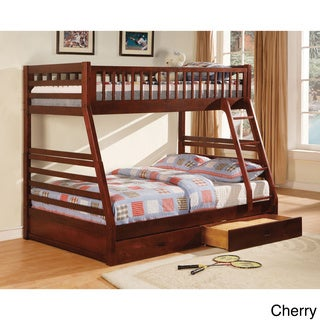 Furniture of America Carmille Twin over Full Bunk Bed with Drawers