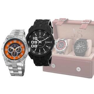 Joshua & Sons Men's Quartz Multifunction Strap/Bracelet Watch Set