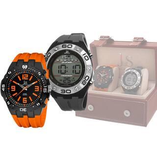 Joshua & Sons Men's Swiss Quartz Digital/Analog Strap Watch Set|https://ak1.ostkcdn.com/images/products/9293374/P16455693.jpg?impolicy=medium
