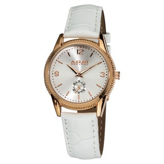 August Steiner Women's Swiss Quartz Watch with Leather Strap (Option: Rose-Tone)