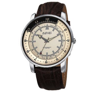 August Steiner Men's Swiss Quartz Tachymeter Leather Strap Watch with FREE GIFT|https://ak1.ostkcdn.com/images/products/9293395/P16455708.jpg?impolicy=medium