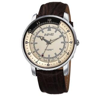 August Steiner Men's Swiss Quartz Tachymeter Leather Strap Watch
