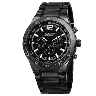 August Steiner Men's Swiss Quartz Multifunction Black Bracelet Watch