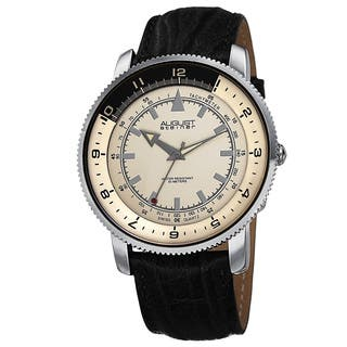 August Steiner Men's Swiss Quartz Tachymeter Leather Silver-Tone Strap Watch with FREE GIFT|https://ak1.ostkcdn.com/images/products/9293399/P16455712.jpg?impolicy=medium