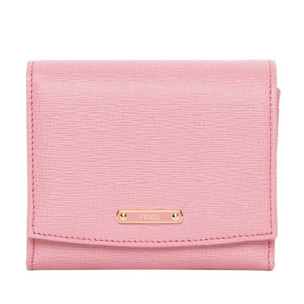 89c02622e1a Shop Fendi Small Crayons Light Pink/ Fuchsia Flap Wallet - Free ...