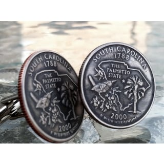 Handmade South Carolina State Quarter Cufflinks