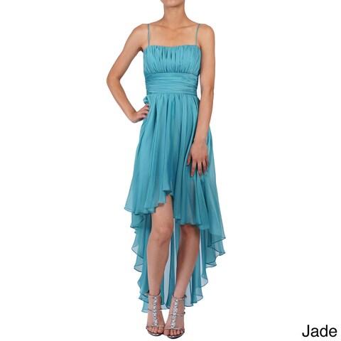 DFI Women's Sleeveless High-low Evening Gown
