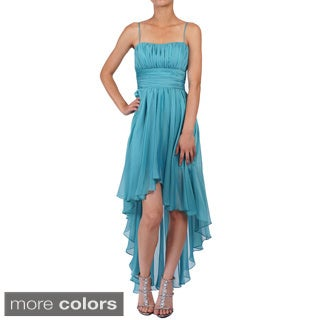 DFI Women's Sleeveless High-low Evening Gown