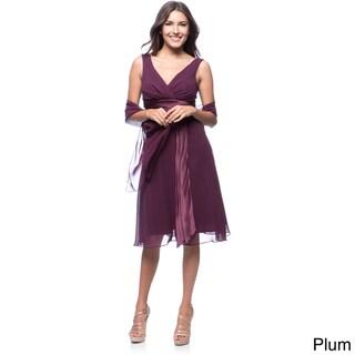 DFI Women's Short Empire-waist Evening Gown