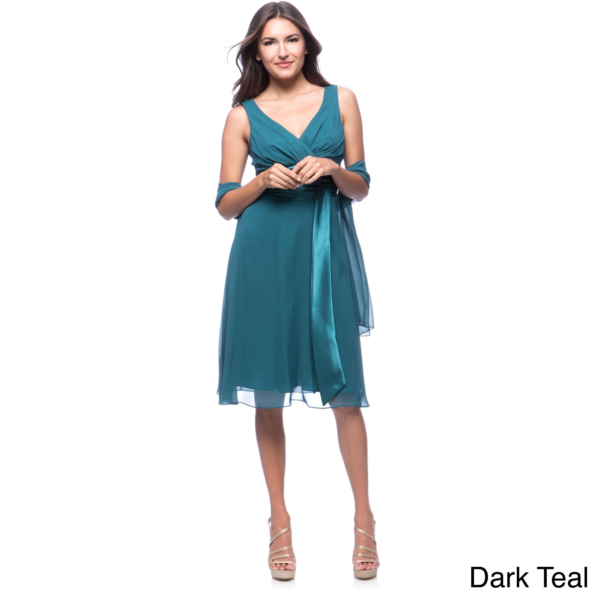 DFI Women\'s Short Empire-waist Evening Gown | eBay