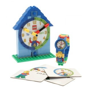 LEGO Blue Time Teacher Kid's Minifigure Interchangeable Links Watch and Clock