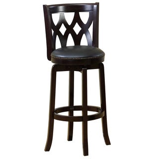 CorLiving Woodgrove Dark Cappuccino 43-inch Wooden Barstool