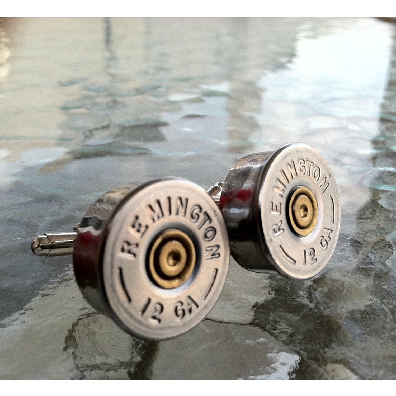 Hand Made From real shotgun shells 1 Pair Brass 12 Gauge Herters Mens Cuff Links