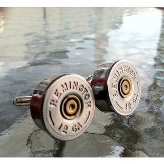 Handmade Pair of 12 Gauge Remington Bullet Shotgun Shell Cufflinks Cuff Links