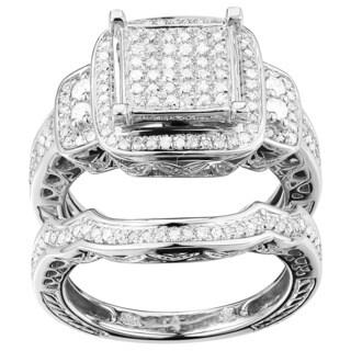 10k White Gold 6/10ct TDW Diamond Ring Set