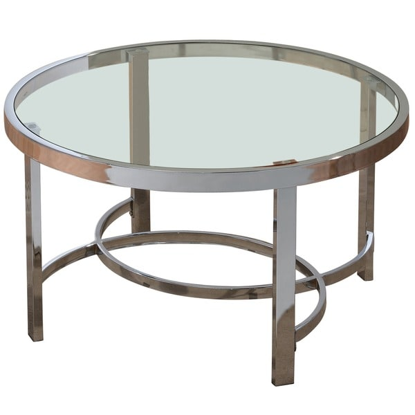 Strata 32-inch Chrome/ Glass Coffee Table. Opens flyout.