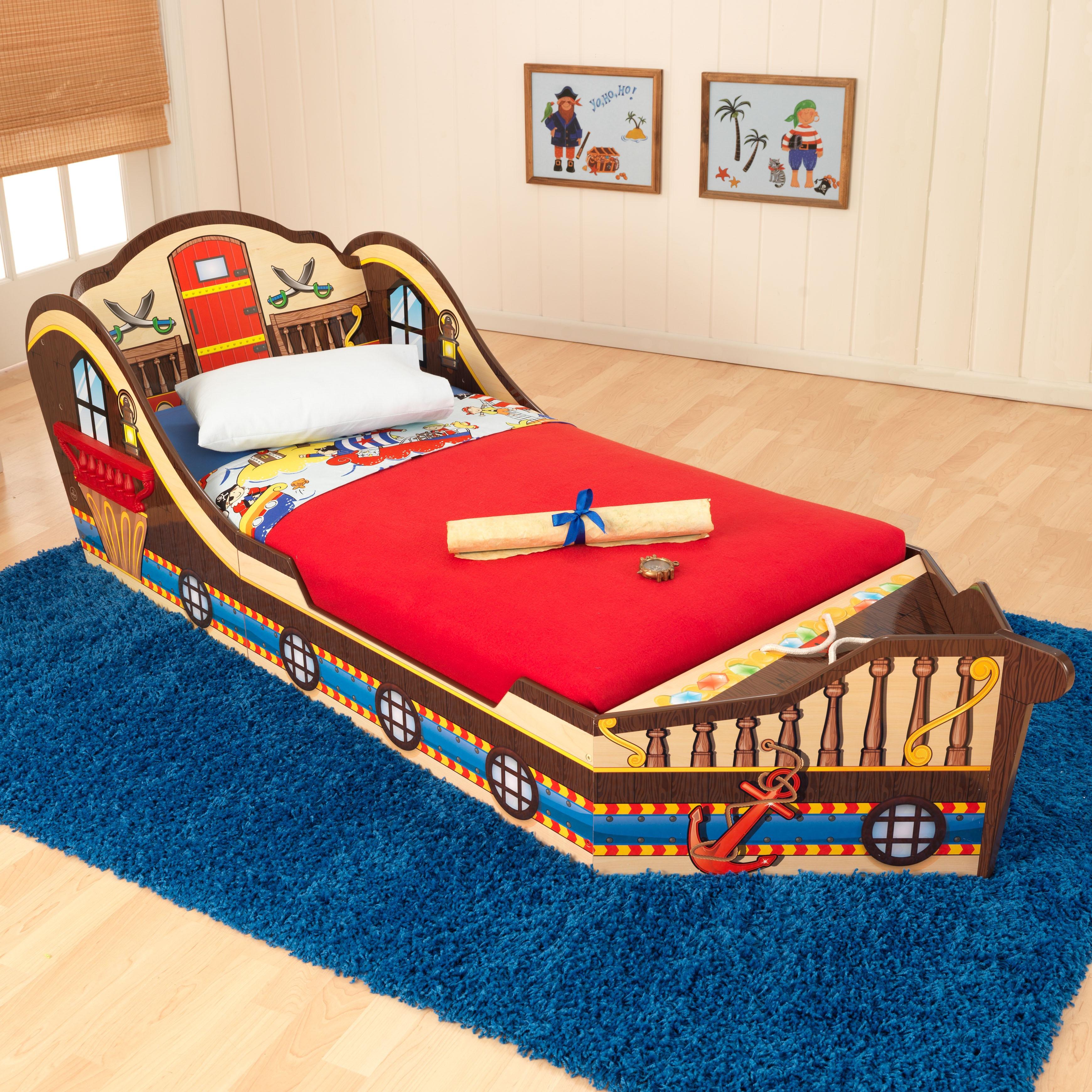 the best attitude c91fe 8858c KidKraft Pirate Toddler Bed