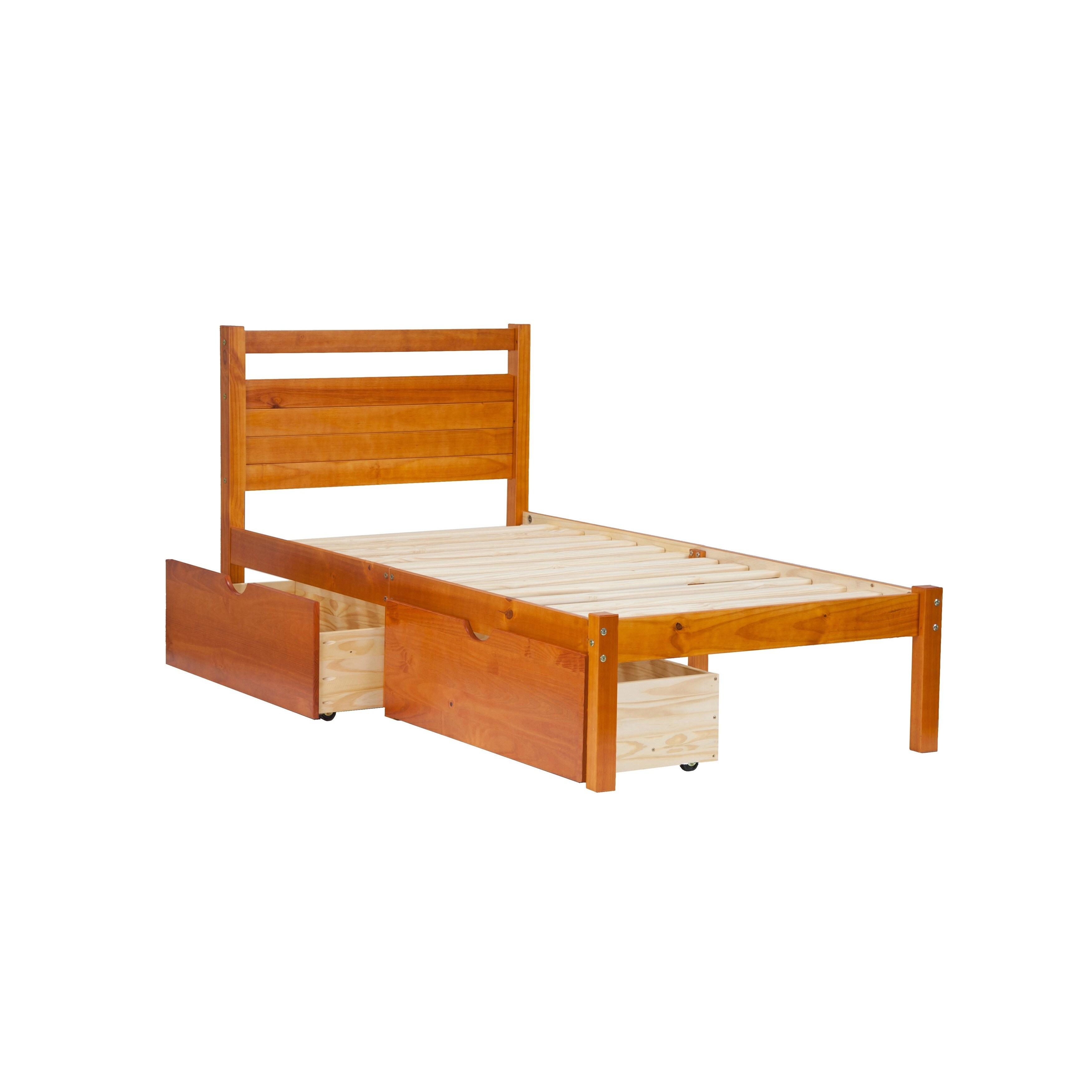 Bronx Pine Wood Twin-size Platform Bed | eBay
