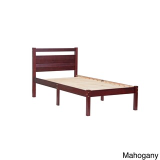 Bronx Pine Wood Twin-size Platform Bed (2 options available)