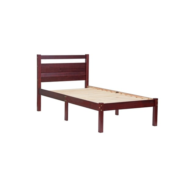Bronx Solid Pine Wood Twin Platform Bed by Palace Imports