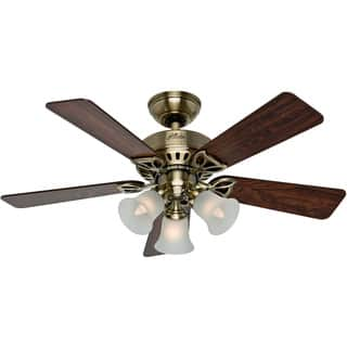 Buy antique ceiling fans online at overstock our best lighting hunter beacon hill antique brass 42 inch fan with 5 rosewood medium oak blades aloadofball Images