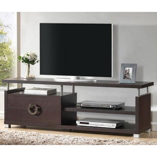 Baxton Studio Burdin Espresso Wood Modern TV Stand