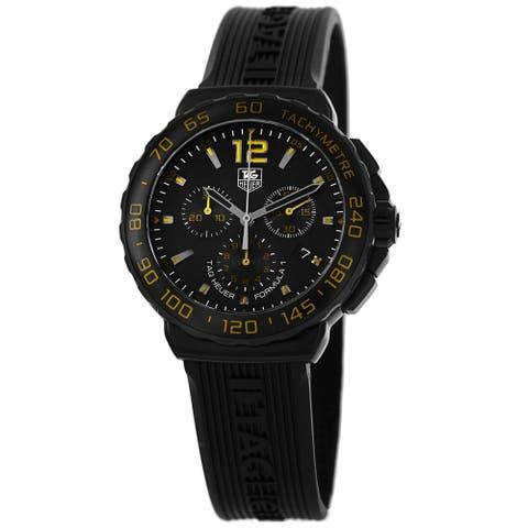Tag Heuer Men's CAU111E.FT6024 'Formula 1' Black Dial Black Rubber Strap Chronograph Watch