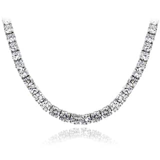 ICZ Stonez Sterling Silver 98 3/4ct TGW Cubic Zirconia Tennis Necklace|https://ak1.ostkcdn.com/images/products/9294141/P16456494.jpg?impolicy=medium