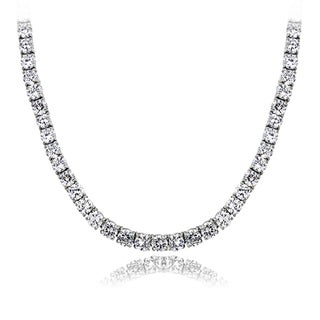 Link to ICZ Stonez 40ct TGW 4mm Cubic Zirconia Tennis Necklace Similar Items in Necklaces