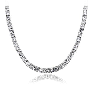 ICZ Stonez 18ct TGW 4mm Cubic Zirconia Tennis Necklace