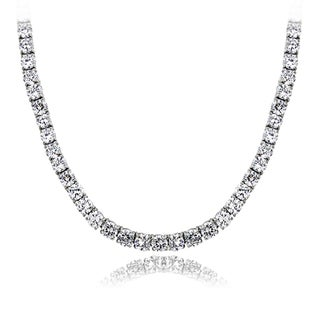 ICZ Stonez 40ct TGW 4mm Cubic Zirconia Tennis Necklace
