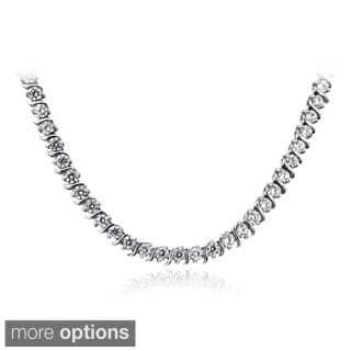 ICZ Stonez Sterling Silver 10 3/5ct TGW Cubic Zirconia S-design Tennis Necklace (Option: Yellow)|https://ak1.ostkcdn.com/images/products/9294145/P16456496.jpg?impolicy=medium