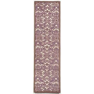 Sculptural Lavender Indoor Rug (2'X8')