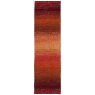 Rainbow Stripe Sunset Indoor Rug - 2'3 x 8'