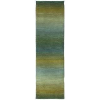 Rainbow Stripe Ocean Indoor Rug - 2'3 x 8'