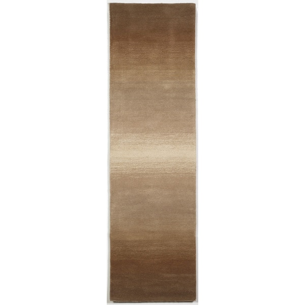 Liora Manne Rainbow Stripe Neutral Indoor Rug (2'3X8') - 2'3 x 8'