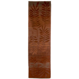 Leaf Saffron Indoor Rug (2'X8')