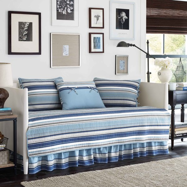 Stone Cottage Fresno Blue 5 Piece Quilted Daybed Cover Set