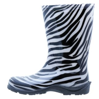 Garden Outfitters Women's Zebra Black & White Size 7 Waterproof Rainboots