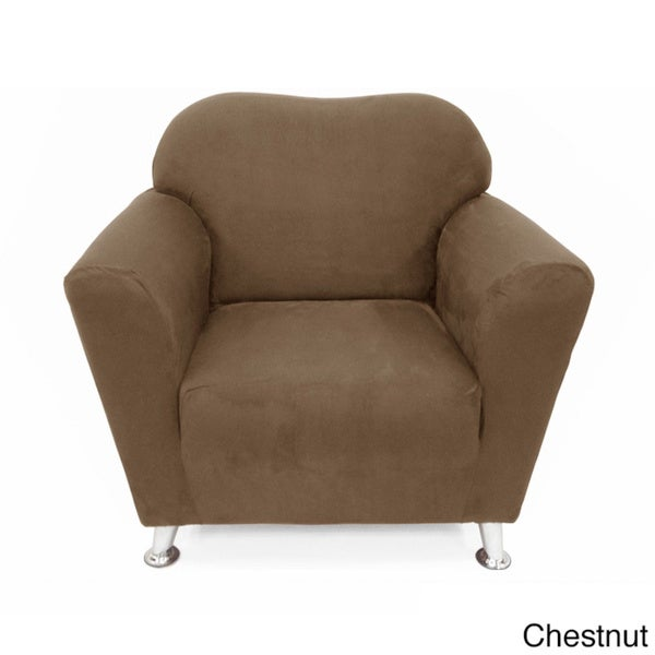 Shop Stretch Suede Chair Slipcover Free Shipping Today