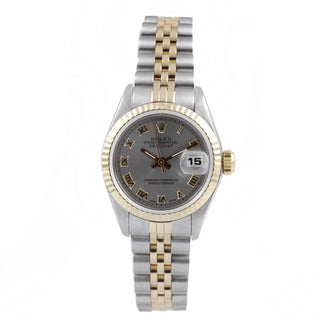 Pre-Owned Rolex Women's Two-tone Fluted Bezel Jubilee Bracelet Watch