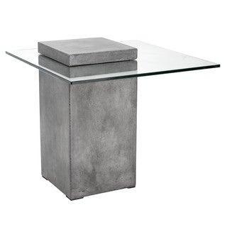 Sunpan 'MIXT' Grange Anthracite Grey Concrete Glass End Table